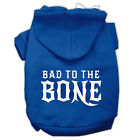 DOG SWEAT SHIRT chihuahua yorkie maltese toy DOG HOODIE BAD TO THE BONE clothes
