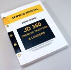 JOHN DEERE 350 JD350 CRAWLER TRACTOR DOZER LOADER SERVICE MANUAL TECHNICAL