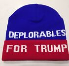 DEPLORABLES FOR TRUMP Make America Great Again 2016 BEANIE HAT DONALD PRESIDENT