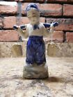 Vintage made in Japan  ceramic blue and white Dutch boy with water buckets