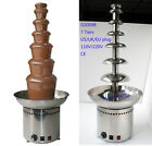 Chocolate Fountain Stainless Steel 7 Tiers 8kgs Capacity 41'' High Fondue CE