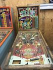 VINTAGE 1957 GOTTLIEB ROYAL FLUSH PINBALL MACHINE COIN OPERATED WOOD RAIL