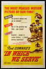 IN WHICH WE SERVE NOEL COWARD DAVID LEAN 1943 1 SHEET LINENBACKED
