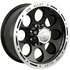16x8 Black Alloy Ion Style 174 Wheels 5x55 5 Lifted CHEVROLET TRACKER