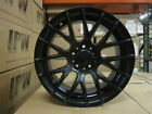 18 BLACK M3 CSL STYLE RIMS STAGGERED FIT BMW 3 SERIES 323 325 328 330 335 MTECH