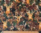 SNUGGLE FLANNEL BUCK DEER in LEAF CAMO CAMOFLAUGE 100 Cotton Fabric NEW BTY