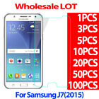 9H Premium Tempered Glass Screen Protector Film For Samsung Galaxy J7 2015 LOT