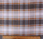 SNUGGLE FLANNEL  BROWN  ORANGE PLAID 100 Cotton Fabric NEW  BTY