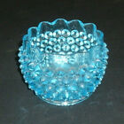 VINTAGE ELECTRIC BLUE RUFFLED EDGE HOBNAIL BOWL! NO CHIPS OR CRACKS!