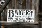 LARGE Rustic Primitive Wood Sign BAKERY Country Home Farmhouse Kitchen Weathered