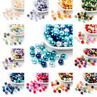1 Bag Mixed Color Pearlized Glass Beads Pearl Beads 4mm 6mm 8mm Beading Jewelry