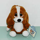 NEW 5 Tall Sad Sam Honey Puppy Dog Applause Keychain Plush Doll Brown Small