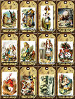 12 ALICE IN WONDERLAND HANG GIFT TAGS FOR SCRAPBOOK PAGES 04