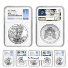 PRESALE Lot of 5 2017 1 oz Silver American Eagle 1 Coin NGC MS 69 First Day