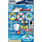 REMINISCE CRUISE SHIP VACATION TRAVEL TROPICAL DIMENSIONAL 3D SCRAPBOOK STICKERS