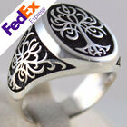 Tree of Life 925 Sterling Silver Turkish Handmade Statement Mens Ring All Sizes
