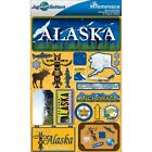 REMINISCE JET SETTERS ALASKA 2 TRAVEL VACATION DIMENSIONAL 3D SCRAPBOOK STICKERS