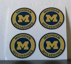 4 MICHIGAN WOLVERINES 2 inch style 7 DIY stickers decal GREAT for YETI laptop