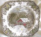 Johnson Bros Decorated Plates The Friendly Village made in England ( Vintage )