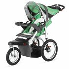 Baby Stroller Turismo Single Swivel Jogger Dual Trigger Folding Mechanism Canopy