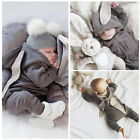 New Toddler Infant Baby Girl Boy 3D Ear Romper Jumpsuit Playsuit Outfits Clothes