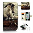 ( For iPhone 4 4S ) Flip Case Cover S9521 Horse