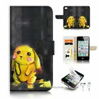 ( For iPhone 4 4S ) Flip Case Cover S9522 Pikachu