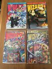 Wizard Lot Of 4 Issues 12 13 17 and 22