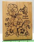 PSX PANSY Botanical rubber stamp K 774 Flowers blooms