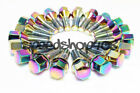 Z RACING 28mm Neo Chrome LUG BOLTS 12X15MM FOR BMW 3 SERIES Cone Seat
