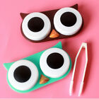 OWL Contact Lens Case Cute Travel Storage Soak Kit Hard Holder Container Box ON
