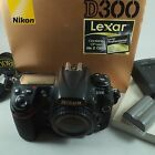 Nikon D300 Digital 12MP SLR Camera BodyBatteryCharger Boxed