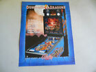 DUNGEONS AND DRAGONS  pinball   GAME  FLYER    CFA