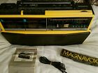 MAGNAVOX D-8300 HEAVY BOOMBOX 2 CASSETTE 5 SPKR 5 BND EQ MINT EX COND FROM 1986
