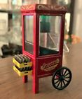 Popcorn Cart Miniature w Danbury Mint Coke Cases (2) 1/24 Scale Diorama Item