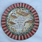 "222 Fifth 12 Days of Christmas 6 French Hens Salad Dessert Plate 8"" MINT"