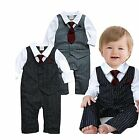 EGELEXY Baby Boy Formal Party Wedding Tuxedo Waistcoat Outfit Suit 3 6months