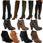 NEW Chunky High Heels Ankle Booties Strappy Woman Distress Boots fashion Shoes