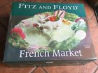 NIB Retired FITZ And FLOYD French Market Hand Painted Pig Sectioned Server 18