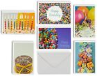 48 Pack Colorful Happy Birthday Cards 6 Different Photo Party Elements Style Box