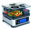 Viante CUC-30ST Intellisteam Counter Top Food Steamer with 3 Separate