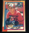 LARRY WALKER 1990 TOPPS AUTOGRAPHED SIGNED AUTO BASEBALL CARD 757 EXPOS