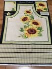 Sunshine Orchard Sunflowers cotton cooks APRON Fabric Panel sewing craft