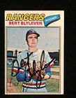 BERT BLYLEVEN 1977 TOPPS AUTOGRAPHED SIGNED AUTO BASEBALL CARD 630 RANGERS