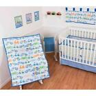Sumersault Vroom Vroom 10 Piece Crib Set Blue Orange Green