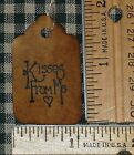 25 XS KISSES FROM ME PRIMITIVE HANDMADE chocolate gift bag valentines HANG TAGS