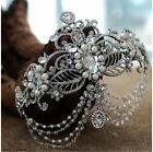 Vintage Wedding Bridal Crystal Pearl Headband Queen Crown Tiara Hair Accessories