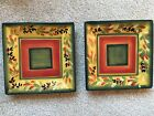 2 Tabletops Gallery Sandwich Salad Square Plates La Province Hand Painted