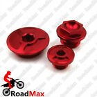 CNC Engine Timing Oil Filter Plugs For XR250 Baja Motard TRX400EX Honda CRF 150R