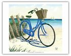 Blue by You Cruiser Bike Beach Vintage Original Painting Art Poster Print Gicle